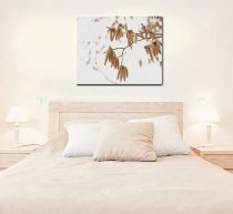 Brown white wall art canvas, nature canvas print, large scale canvas art for living room, light brown bedroom wall decor, tree branch art