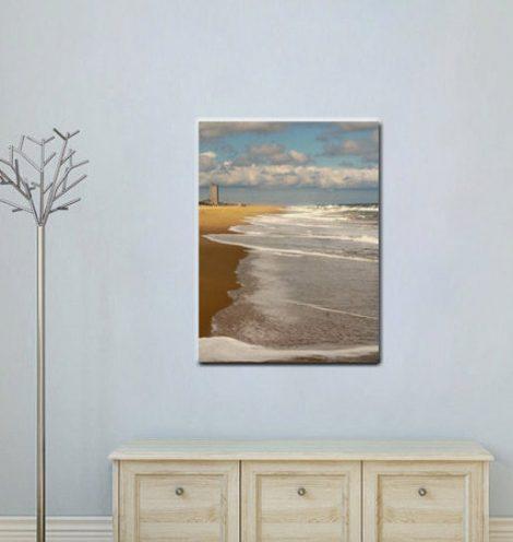 Virginia Beach coastal wall art, ocean canvas vertical beach home decor, beach canvas print large wall art, nautical canvas, seashore canvas