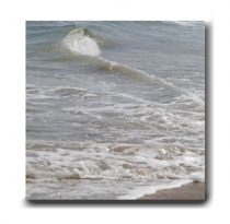 Beach bathroom canvas print, beach canvas art, ocean photography, neutral beige grey bath wall decor, 20x20 canvas wrap, coastal wall art