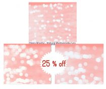 Peach wall art set of 3, bokeh light, sparkle photography, peach & white wall decor girls room bedroom wall art abstract photography modern