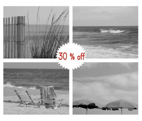 Black and white beach photography set, beach pictures 4 11x14, coastal prints, grey wall art, beach cottage decor, modern nautical seashore