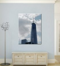 Freedom Tower canvas wall art, New York canvas picure, New York City canvas photography, large new York decor, minimal nyc vertical art
