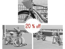 Bicycle art black and white bicycle photography, Virginia Beach bike prints, beach cruiser bike photo, wall art set of 3 bike pictures 11x14
