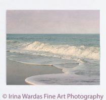 Large ocean canvas photography, seascape wall art, canvas seashore art, beach house photography, pink aqua bathroom art bedroom canvas print