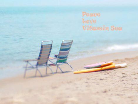 Coastal print beach scene Summer art, beach photograph, tan aqua ocean wall art beach nautical seashore decor, beach quote print, blue beige