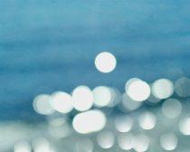 Large abstract art, water art, ocean photograph bokeh lights sparkle, white turquoise teal blue nautical decor, coastal print 18x24, 16x20