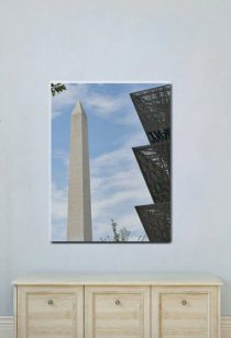 Washington DC photography canvas wall art, DC canvas vertical art, Washington Monument National Museum African American History, travel gift