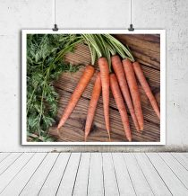 Farmhouse kitchen art print, rustic kitchen wall decor carrot photo, country kitchen photography, dining room print vegetable wall art