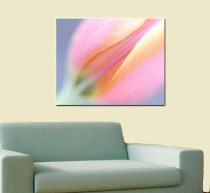 Modern art, tulip artwork, floral abstract photography, pastel dreamy wall art large wall decor, yellow blue pink flower canvas gallery wrap