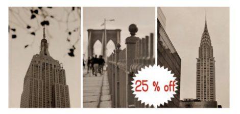 NYC set of 3 prints
