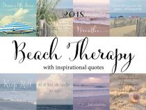 Inspirational Calendar 2018 beach motivational calendar with quotes, photo calendar with easel, 5x7 4x6 calming relax gift inspirational her