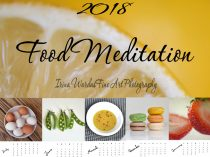 2018 Photo Calendar, food calendar 2018 desk calendar 5x7, with easel kitchen gift, foodie cooking culinary gift for her, fruit  vegetables