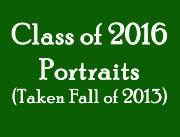 Class of 2016 Portraits
