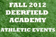 2012 FALL ATHLETIC EVENTS