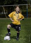 Soccer gold med..
