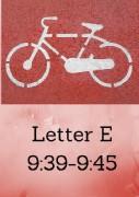 Letter E Photo Times 9;39-9;45