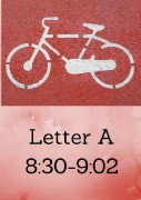 Letter A Photo Times 8;30-9;02