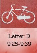 Letter D Photo Times 9;25-9;39