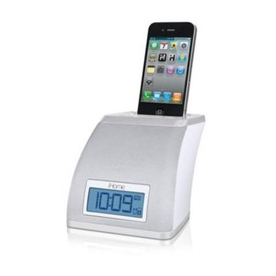 Ihome Spacesaver App-Friendly Alarm Clock For Iphone And Ipod -