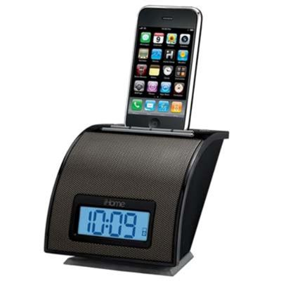 Ihome Ip11bv Space Saver Alarm Clock For Iphone / Ipod