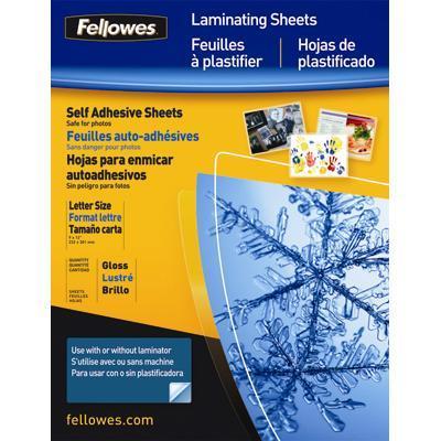 Fellowes Self Adhesive Laminating Sheets Lamination Film - Glossy