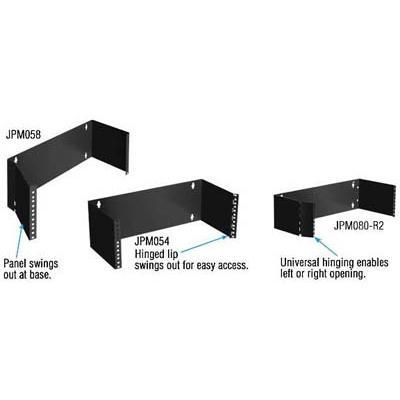 "Black Box Wallmount Patch Panel Brackets 19""w 8"" Deep Hinged"