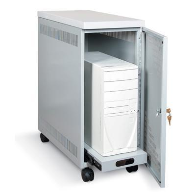 Black Box Mobile Cpu Security Cabinet With Locking Door And