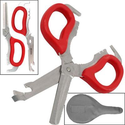 Gold Label Trademark Tools Multi-Purpose Detachable Scissors - Red