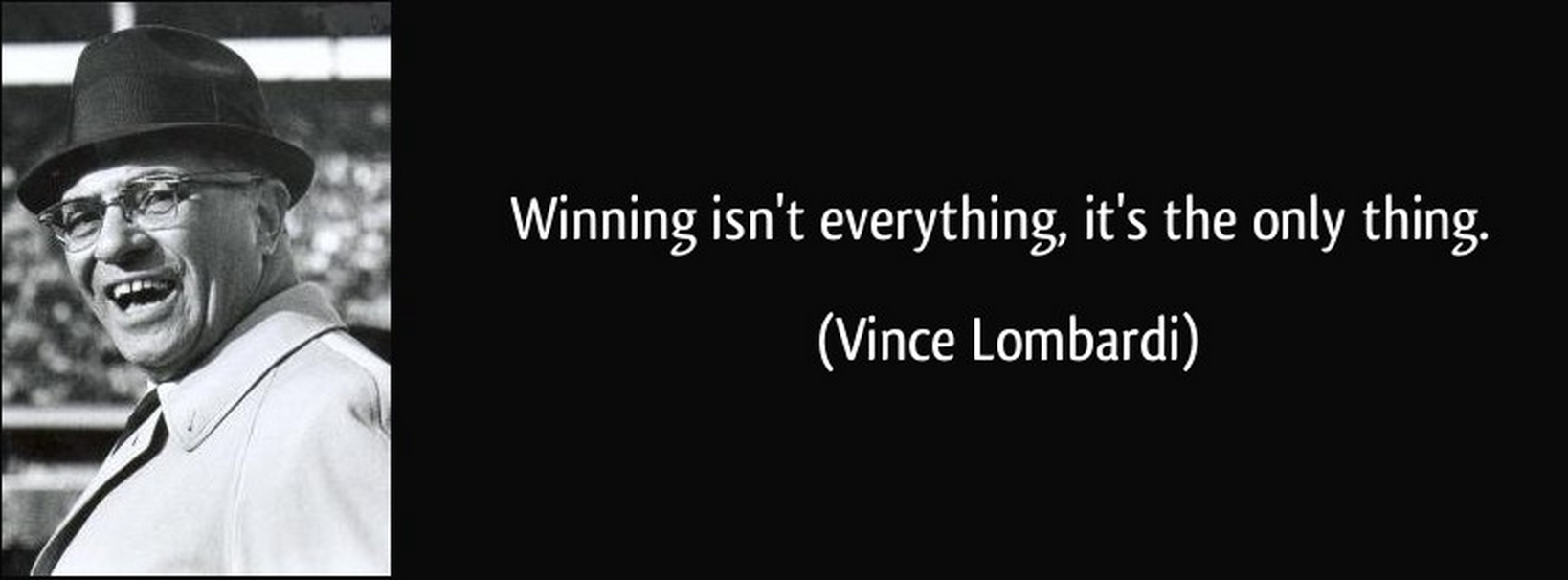 winning isn t everything its the only thing If in the past winning was the only thing that mattered, these days it increasingly seems to resemble the easy part — particularly if a coach has an established track record.