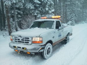 DTS Pilot Car Service Winter ready over sized load escort image