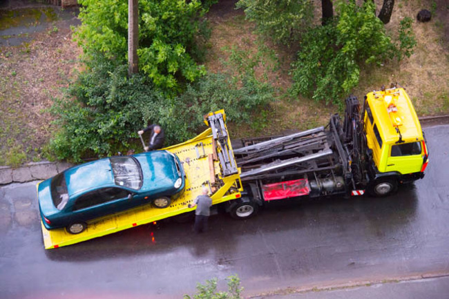 Reno flatbed tow truck