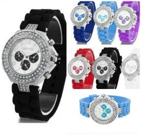 Embellished Silicone Watches