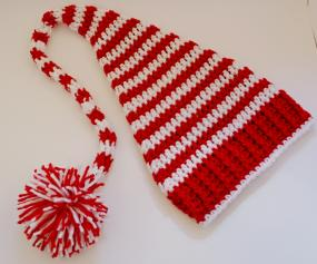 Candy Cane Baby Elf Hat