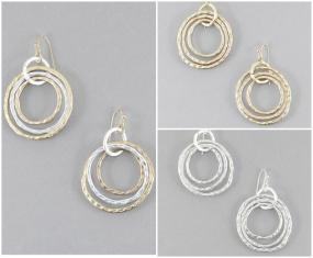 Marco Bicego Inspired Circle Cluster Earrings