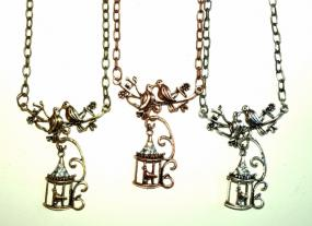 Sweet Birdcage Pendant & Earring Set
