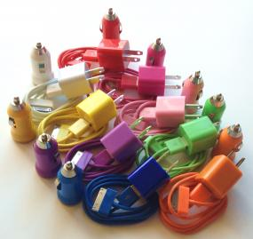 3 Piece iPhone Chargers in 9 Colors