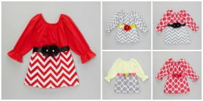 FREE SHIPPING....Festive Holiday Dresses for Little Girls