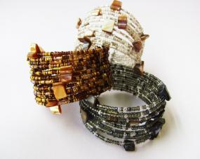Anthro- Inspired Seed Bead Cuff