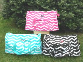 Personalized Chevron Duffel Bag