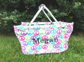 CYBER MONDAY! Personalized Mini Peace Market Tote