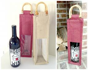 Jute Wine Bags for Hostesses