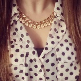 Golden Glitz Necklace / Gold Sherbet Necklace