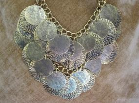 Reversible Retro Style Disc Statement Necklace!! - Quick Ship