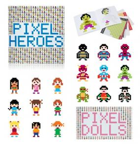 Pixel Heros and Pixel Dolls Sticker Books!