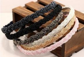 Delicately Beaded Headbands in 4 Beautiful Colors