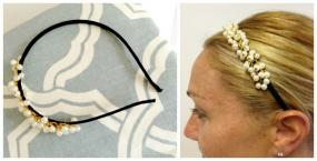Delicate Wrapped Pearl Headband