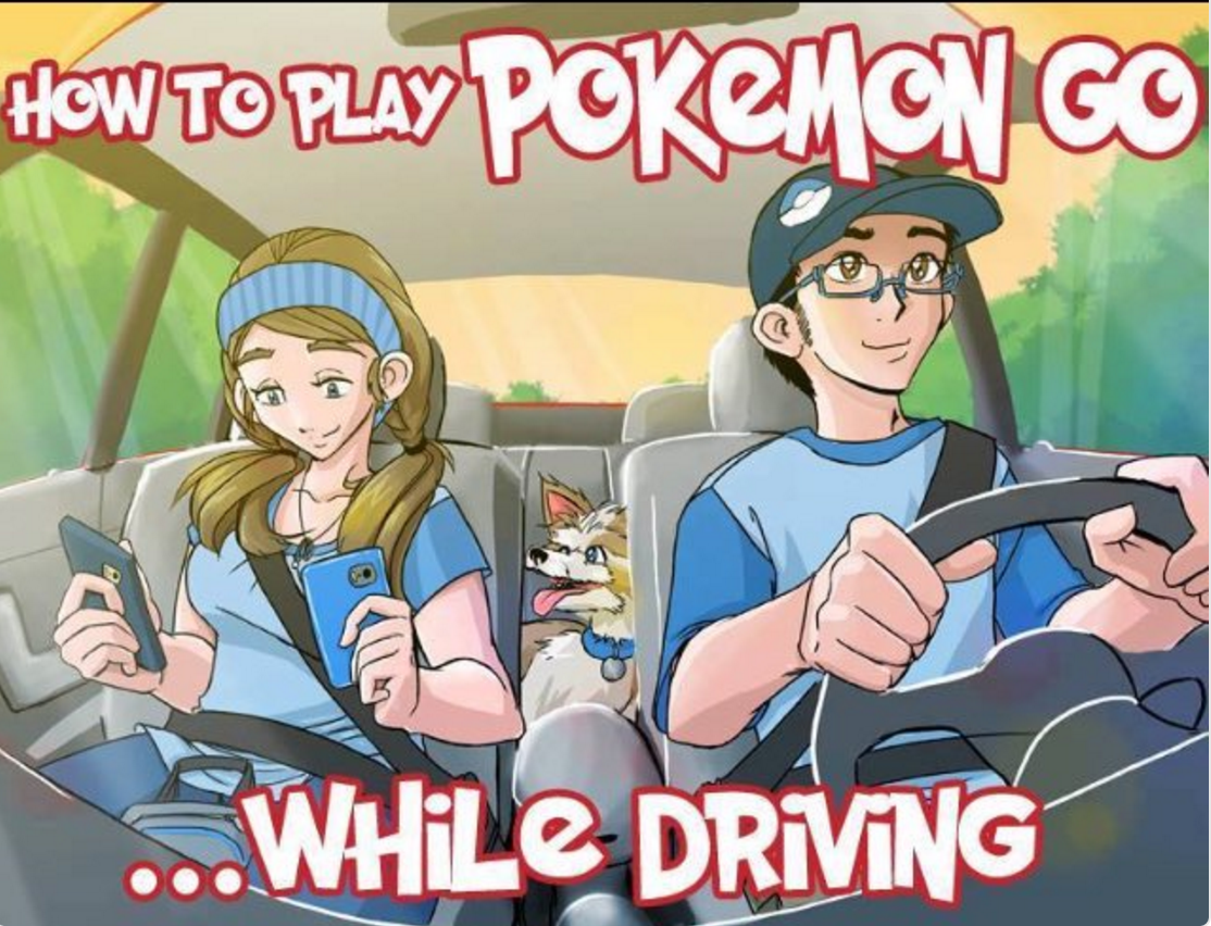 How to drive and play pokemon go