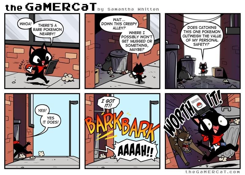 The gamer cat pokemon