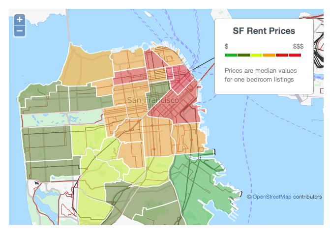 The san francisco rent explosion Cost of one bedroom apartment in san francisco