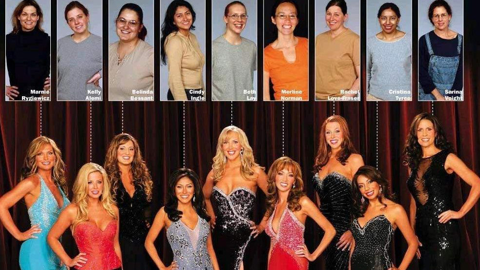 Swan contestants before and after.